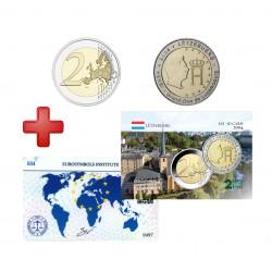2 euros Luxembourg 2004 Henri + carte commémorative
