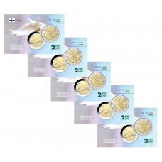Lot x5 Finlande Nations Unies - Carte commémorative