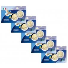 Lot x5 Italie 2005 constitution - Carte commémorative