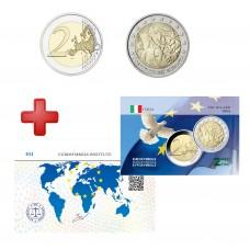 2 euros Italie 2005 Constitution + carte commémorative