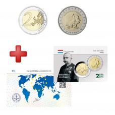 2 euros Luxembourg 2005 Grand Duc Henri + carte commémorative