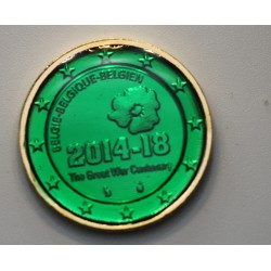 Belgique 2014 - dorée OR fin 24 carats Emeraude précieuse