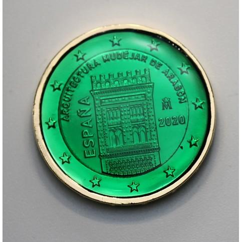 Espagne 2020 - dorée OR fin 24 carats Emeraude précieuse