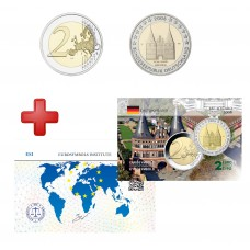 2 euros Allemagne 2006 schleswing + carte commémorative