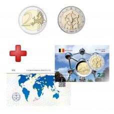 2 euros Belgique 2006 Atomium + carte commémorative