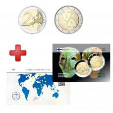 2 euros Finlande 2006 Suffrage + carte commémorative