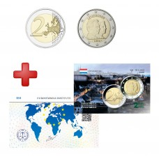 2 euros Luxembourg 2006 Grand Duc Guillaume + carte commémorative