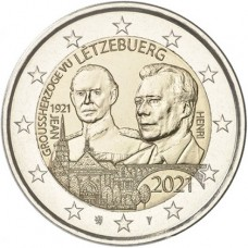 Luxembourg 2021 - 2 euros commémorative Grand Duc Jean relief