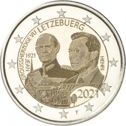 Luxembourg 2021 - 2 euros commémorative Grand Duc Jean photo
