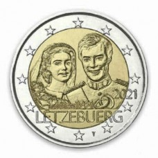 Luxembourg 2021 - 2 euros commémorative mariage relief