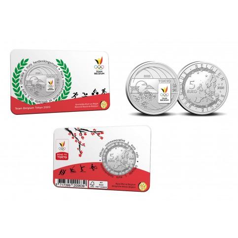 Belgique 2020 Coincard - 5 euros Jeux Olympique couleur