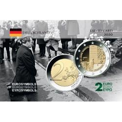 Allemagne 2020 Génufléxion - Carte commémorative