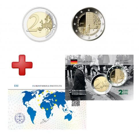 2 euros Allemagne 2020 Génufléxion + carte commémorative