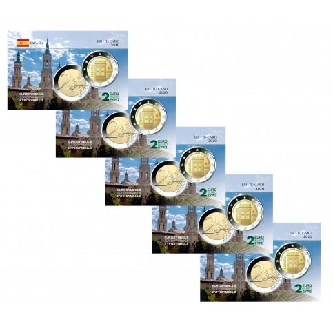 Lot x5 Espagne 2020 Aragon - Carte commémorative