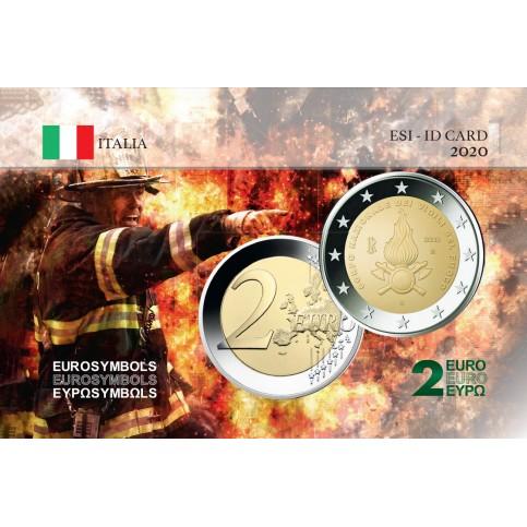 Italie 2020 Pompiers - Carte commémorative