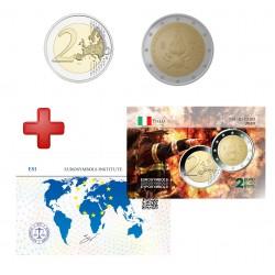 2 euros Italie 2020 Pompiers + carte commémorative