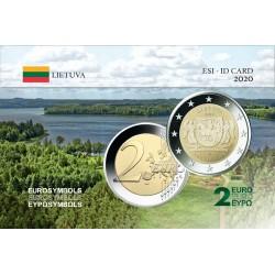 Lituanie 2020 Aukstaitija - Carte commémorative