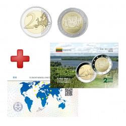 2 euros Lituanie 2020 Aukstaitija + carte commémorative
