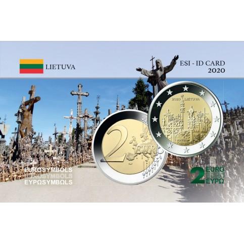 Lituanie 2020 Colline des Croix - Carte commémorative