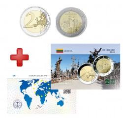 2 euros Lituanie 2020 Colline des croix + carte commémorative