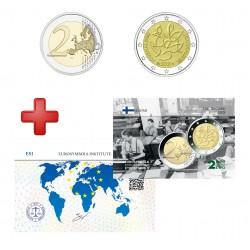 2 euros Finlande 2021 Journalisme + carte commémorative