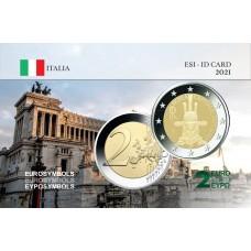 Italie 2021 Rome - Carte commémorative