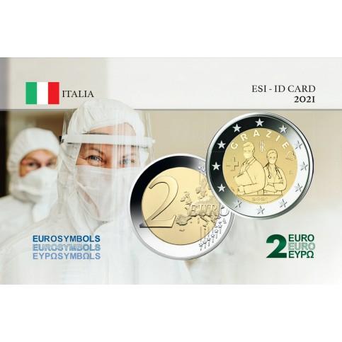 Italie 2021 Merci - Carte commémorative