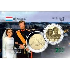 Luxembourg 2021 Mariage - Carte commémorative