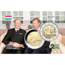 Luxembourg 2021 Grand Duc Jean - Carte commémorative