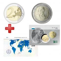 2 euros  Saint Marin 2004 Borghesi + carte commémorative