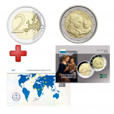 2 euros  Saint Marin 2019 Filippo + carte commémorative