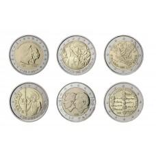 Série complète 2005 - 2 euro commémoratives