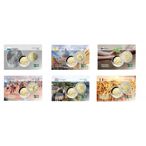 Série complète 2004 - 6 cartes commémoratives