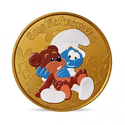 France 2021 - Bébé Schtroumpf - médaille