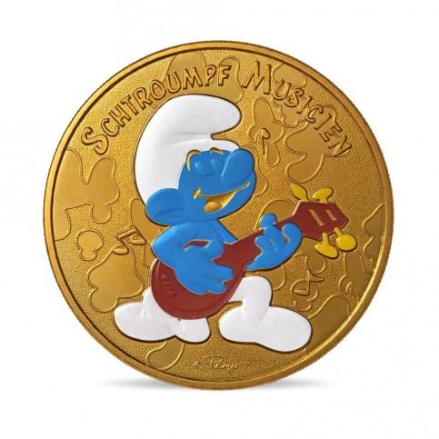 France 2021 - Schtroumpf musicien - médaille