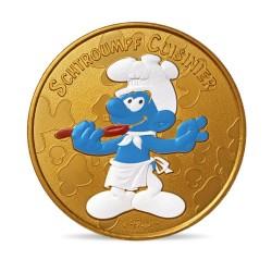 France 2021 - Schtroumpf cuisinier - médaille