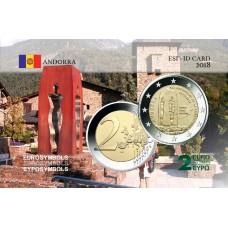 Andorre 2018 Constitution - Carte commémorative