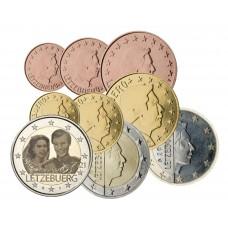 Luxembourg 2021 - série complète + 2 euros commémorative mariage