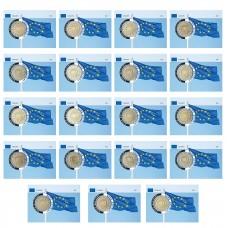 Série complète Drapeau - 19 coincards 2 euros