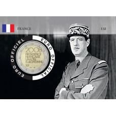 France 2008 DEGAULLE Coincard - Portrait