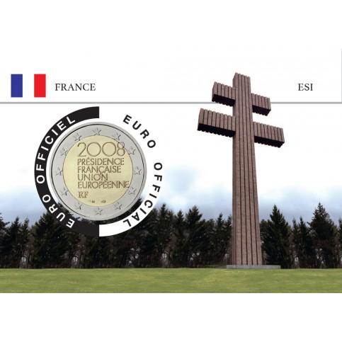 France 2008 DEGAULLE Coincard - La Croix de Lorraine