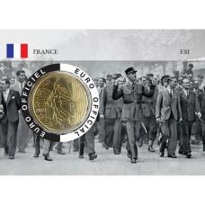 France 2021 50 centimes - Lot de 4 coincards Charles de Gaulle