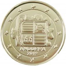 Andorre 2 euros dorée à l'or fin 24 carats