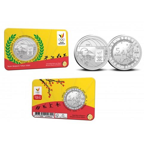 Belgique 2020 Coincard - 5 euros Jeux Olympique