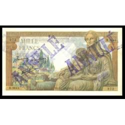 1000 Francs - Demeter Annulé - 1942-1943 - Belle qualité