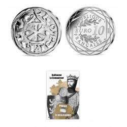 France 2019 - Guillaume le Conquérant - 10 euros argent