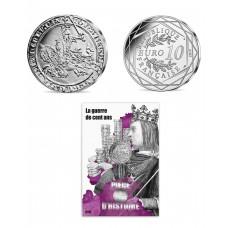 France 2019 - La guerre de 100 ans - 10 euros argent