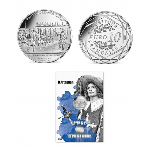 France 2019 - D'Artagnan - 10 euros argent