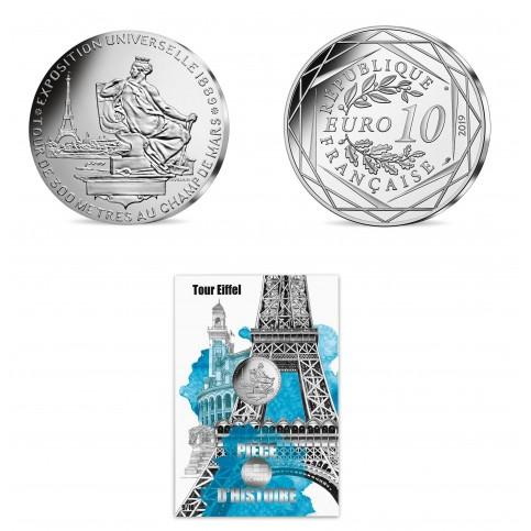 France 2019 - La Tour Eiffel - 10 euros argent