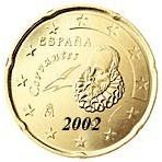 Espagne 20 Cents  2002